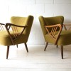Pair of Green 1950s Cocktail Chairs2