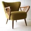 Pair of Green 1950s Cocktail Chairs4