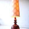 1960s Ceramic West German Floor Lamp by Bay