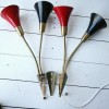 1950s Black Red Wall Lights 3