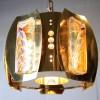 1960s Medium Gold Glass Chandelier