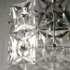 1960s Small Chrome Glass Ceiling Light by Kinkeldey Germany2