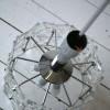 1960s Small Chrome Glass Ceiling Light by Kinkeldey Germany3