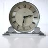 Art Deco Chrome Mantle Clock