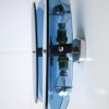 French 1950s Blue Glass Wall Lights 1