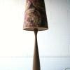 Large Teak Floor Lamp Shade