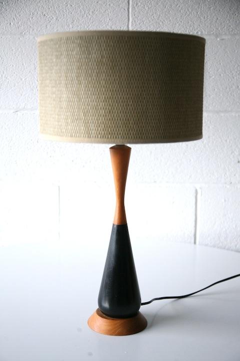 Modernist Wooden Table Lamp
