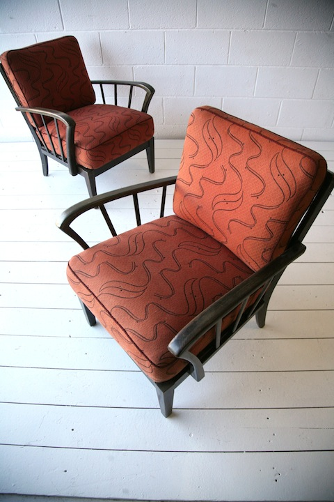 Pair 1950s Chairs