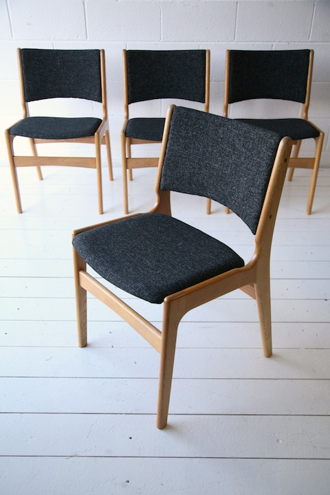 Vintage 1960s Oak Dining Chairs