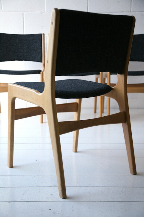 Vintage 1960s Oak Dining Chairs 2