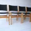 Vintage 1960s Oak Dining Chairs 3