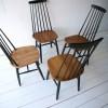 Vintage High Backed Dining Chairs by by Ilmari Tapiovaara 2