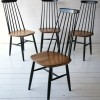 Vintage High Backed Dining Chairs by by Ilmari Tapiovaara
