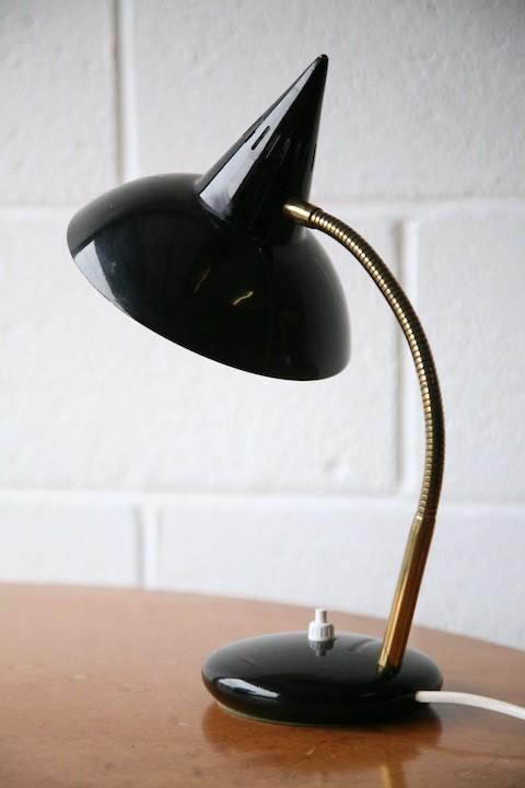 1950s Black Italian Desk Lamp