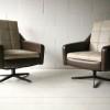Pair of 1960s Vinyl Swivel Chairs1