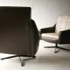 Pair of 1960s Vinyl Swivel Chairs2