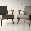 Pair of Grey 1950s Chairs1