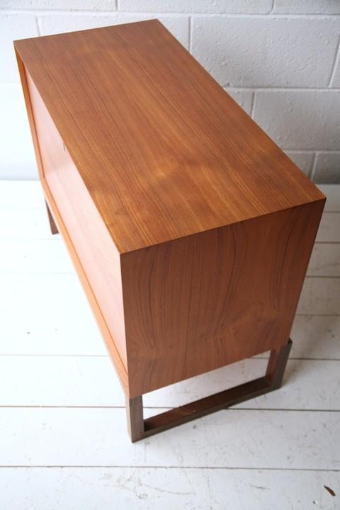 Vintage Danish Teak Record Cabinet