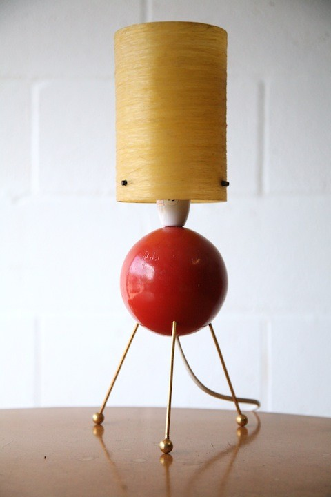 1950s Atomic Table Lamp