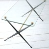 1950s Brass and Glass Modernist Coffee Table