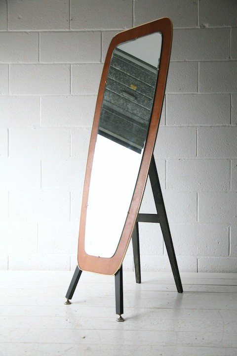 1950s French Cheval Mirror 1