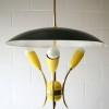 1950s Yellow Ceiling Light