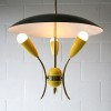 1950s Yellow Ceiling Light 3