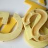 02 Vintage Plastic Yellow Shop Letters 3