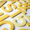 02 Vintage Plastic Yellow Shop Letters1
