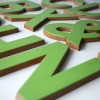 03 Large Green Plastic and Wood Shop Letters1