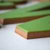03 Large Green Plastic and Wood Shop Letters2