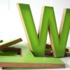 03 Large Green Plastic and Wood Shop Letters3
