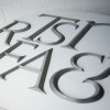 11 VIntage Large Metal Shop Letters Times Roman Font 1