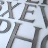 12 VIntage Metal Shop Letters Times Roman Font
