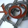 12 VIntage Metal Shop Letters Times Roman Font 2