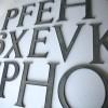 12 VIntage Metal Shop Letters Times Roman Font 4