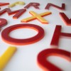 13 Vintage Red Yellow Plastic Shop Letters1