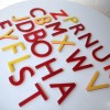 13 Vintage Red Yellow Plastic Shop Letters2