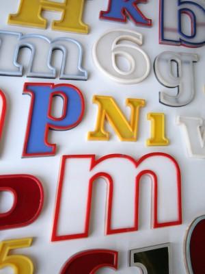 15 Vintage Plastic 1960s Shop Letters