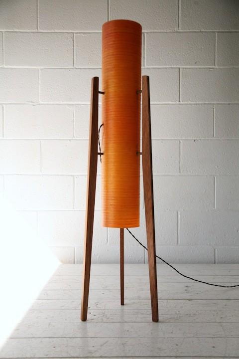 1960s Orange Rocket Lamp