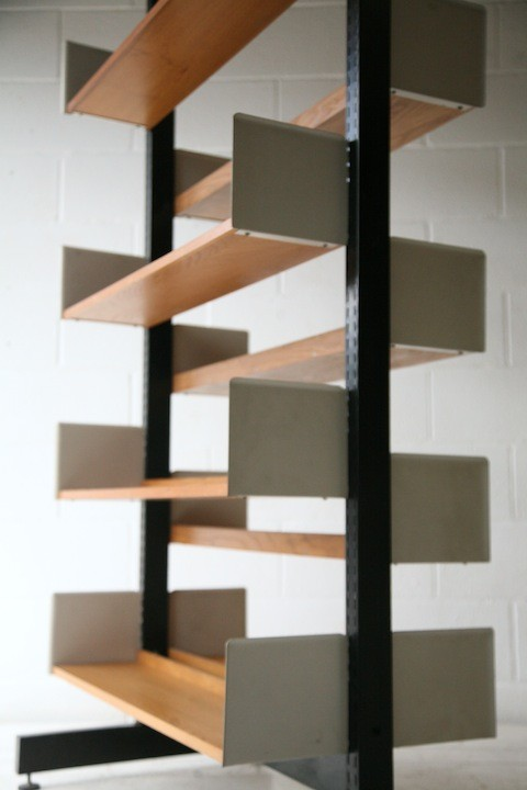 1970s Double-sided Library Bookcase 1
