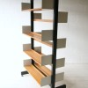 1970s Double-sided Library Bookcase