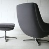 1970s Grey Swivel Chair and Stool3