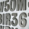23 Small Vintage Metal Shop Letters