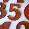 25  Large Wooden Vintage Shop Letters Doric Font 2