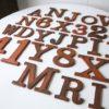 27 Wooden Vintage Shop Letters Clarendon Font 1