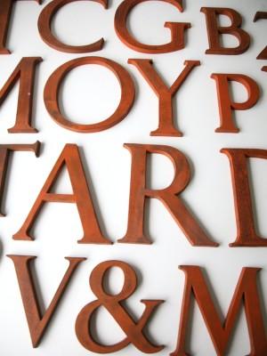 28 Wooden Vintage Shop Letters Times Roman Font 1