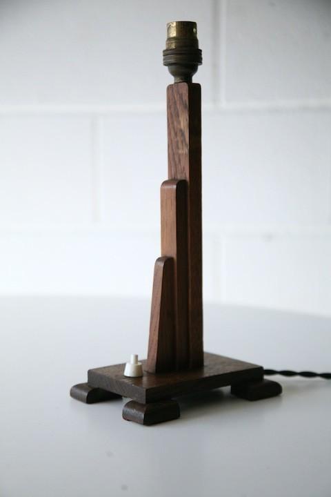 Art Deco Wooden Lamp Base
