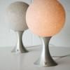 Pair of 1970s Aluminium Table Lamps