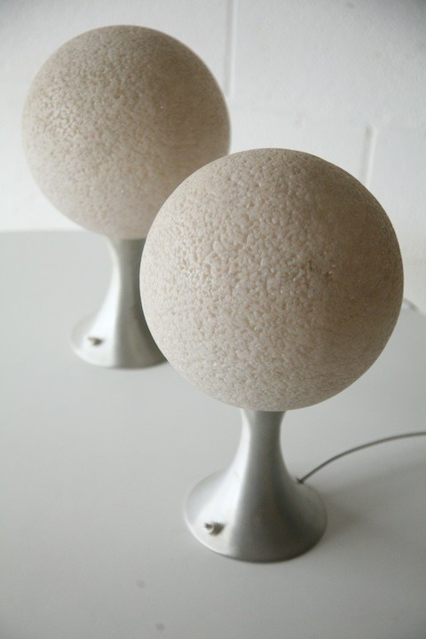 Pair of 1970s Aluminium Table Lamps1